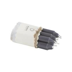 Świeczki szare 10 szt. 10 cm ib laursen