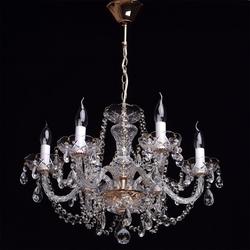 Kryształowy żyrandol na 6 żarówek carolina mw-light 367012606
