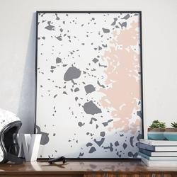 Lovely splash - plakat w ramie , wymiary - 18cm x 24cm, ramka - czarna