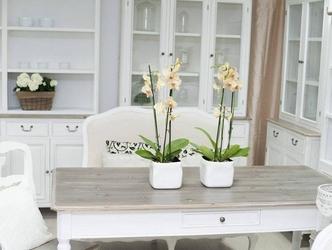 Biały kredens ravenna w prowansalskim stylu 120 cm