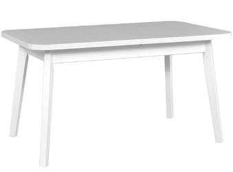 Stół rozkładany din iii 140-180x80 cm biały