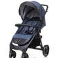 4baby quick navy blue wózek spacerowy + ocieplacz + uchwyt + folia