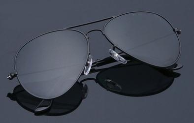 Okulary aviator czarne pilotki przeciwsłoneczne 2161