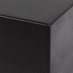 Umywalka wisząca granitowa trida czarna matowa prawa