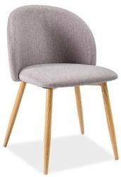 Krzesło do salonu emma i, tapicerowane, szare