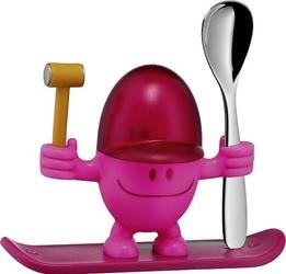 Kieliszek do jajek z łyżeczką mcegg różowy