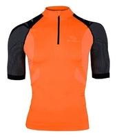 Brubeck ss10410 koszulka rowerowa pomarańczowy