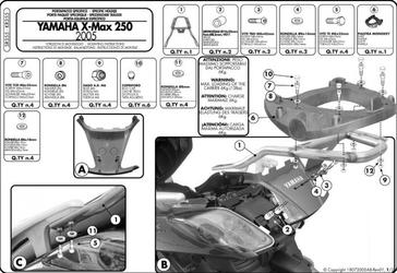 Kappa kr355 centr. yamaha x-max 250 05  09