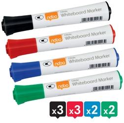 Markery suchościeralne nobo glide ink mix kolorów10szt.