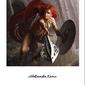 Ruda wojowniczka - plakat premium wymiar do wyboru: 40x50 cm