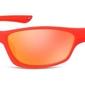 Okulary dziecięce sportowe unisex czerwone matowe lustrzane cs90b