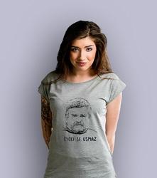 Cycki se usmaż t-shirt damski jasny melanż xxl