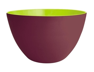 Zak miska 28 cm, kasztanowo-zielona, melamina