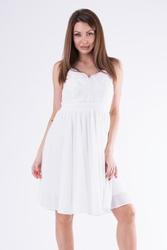 Evalola sukienka biały 58007-4