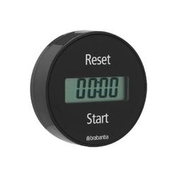 Brabantia - elektroniczny timer kuchenny mocowany na magnes - szary - szary