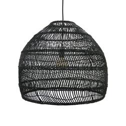 HK Living :: Lampa wisząca wiklinowa czarna Ø60cm - M