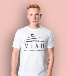 Miau t-shirt męski biały xl