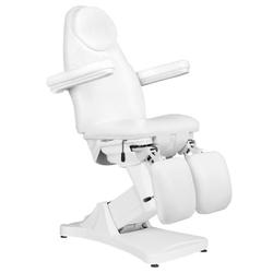 Fotel kosmetyczny elektr. basic 156a pedi 3 siln. biały