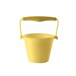 Zwijane wiaderko silikonowe, Pastelowy Żółty, Scrunch Bucket