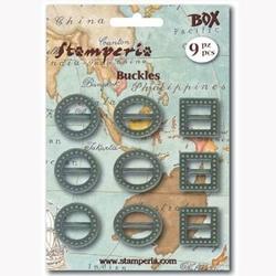 Metalowe zapięcia ozdobne Stamperia - 9 sztuk