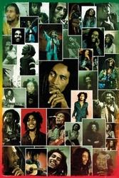 Bob marley - zdjęcia kolaż - plakat