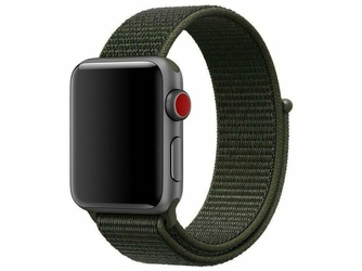 Pasek nylonowy Alogy do Apple Watch 12345 4244mm Ciemny zielony - Zielony