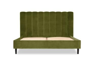 łóżko magnolia 180x200    welur bawełna 100 oliwkowy