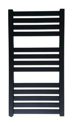 Grzejnik łazienkowy vas - rurka płaska, 500x1000, czarny