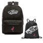 Plecak szkolny vans realm backpack custom flaming + worek vans custom flaming - flaming