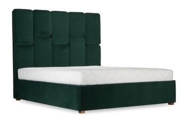 Łóżko snödroppe 160x200 welurowe deluxe - welur łatwozmywalny charcoal