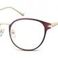 Oprawki okularowe kocie oczy damskie stalowe sunoptic 940b brązowe