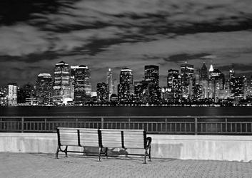 Nowy jork, liberty state park - fototapeta