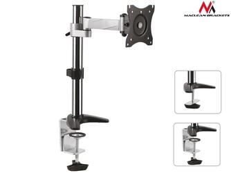 Maclean uchwyt biurkowy do monitora lcd mc-717 8kg max vesa 100x100 aluminiowy