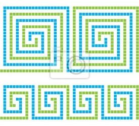 Naklejka seamless ornament mosaic