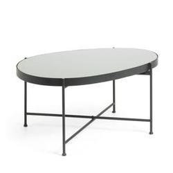Szklany stolik illu 38x82 cm czarny