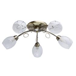Lampa sufitowa do salonu z zdobionymi kloszami DeMarkt 358011505