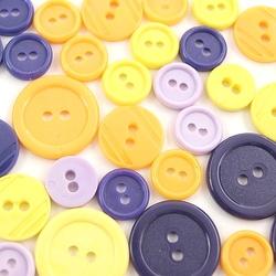 Kolorowe guziki 3 wielkości40 szt - mix ii - mixii