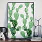 Plakat w ramie - cactus art , wymiary - 20cm x 30cm, ramka - czarna
