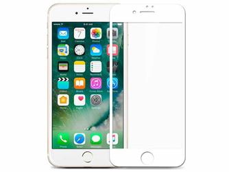 Szkło Mocolo 3D na cały ekran do Apple iPhone 7 białe - Biały