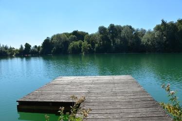 Fototapeta na ścianę pomost nad zielonkawym jeziorem fp 5897