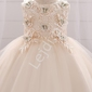 Śliczna sukienka dziecięca w kolorze szampana 899