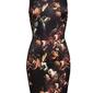 Sukienka w kwiaty bonprix czarno-brązowy w kwiaty