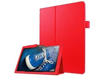 Etui stand cover lenovo tab2 a10-30tab 10 tb-x103 czerwone + szkło - czerwony