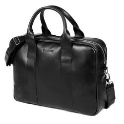 Męska torba na laptop ze skóry naturalnej brodrene r01 czarna