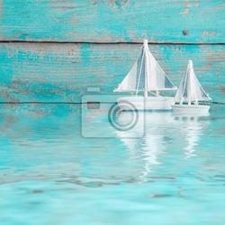 Fototapeta zwei segelboote am meer