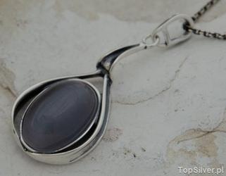 Neapol - srebrny wisior z kocim okiem