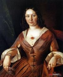 portret nieznajomej - jan chrucki ; obraz - reprodukcja