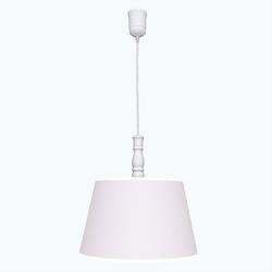 Lampa wisząca roomee decor - pudrowy róż z białą lamówką