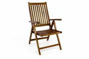 Krzesło ogrodowe z drewna akacjowego, 5 regulacji oparcia