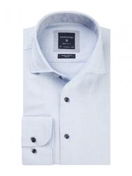 Męska niebieska koszula z fakturą dobby 45